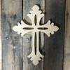 Paintable Wall Hanging Cross, Wooden Unfinished Cross Pine (54)