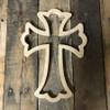 DIY Wall Cross, Paintable Wooden Cross, MDF Cross Pine (62a)