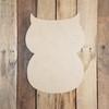 Retro Owl, DIY, Unfinished Wooden Shape, Wood Cutout