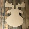 Moose Head, Unfinished Wood Shape, DIY, Shapes Cut out