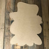 Crow or Scarecrow Head,  Unfinished Wood Shape, DIY, Shapes Cut out