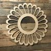 Sunflower with Cutouts, Unfinished Wood Shape, Fall Cutout
