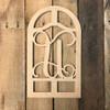 Cathedral Arch Frame Letter Monogram Unfinished DIY Craft