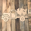 Truck with Valentine Hearts Cutout Unfinished Wooden Cutout Craft