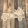 Truck with Bunnies Cutout Unfinished Wooden Cutout Craft