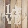 Love with Fleur De Lis Sign Wall Art Wooden DIY Craft MDF