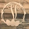 Wood Easter Egg Monogram Wreath Decor Paintable Cutout