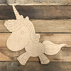 Unicorn DIY, Unfinished Wood Cutout, Paint by Line