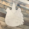 Unicorn Head DIY, Unfinished Wooden Cutout Craft, Paint by Line