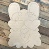 Drama Llama DIY, Unfinished Wooden Cutout Craft, Paint by Line