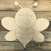 Bumble Bee, Unfinished Wooden Cutout Craft, Paint by Line