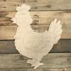 Little Hen, Unfinished Wooden Cutout, Paint by Line