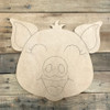 Pig, Unfinished Wooden Cutout Craft, Paint by Line