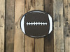 Football, Unfinished Wooden Cutout Craft, Paint by Line