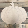 Wide Pumpkin, Unfinished Wooden Cutout Craft, Paint by Line