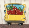 Strawberry Truck, Unfinished Wood Cutout, Paint by Line