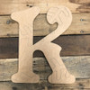 Wood Beltorian Baseball or Softball Letters, Unfinished Paint by Line