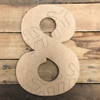 Wood Beltorian Baseball or Softball Numbers, Unfinished Paint by Line