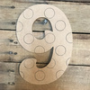 Wood Beltorian Polka Dot Numbers, Unfinished Paint by Line