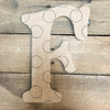 Wood Beltorian Polka Dot Letters, Unfinished Paint by Line