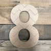 Wood Rockwell Chevron Numbers, Unfinished Paint by Line