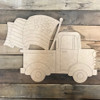 Old Style Truck with American Flag , Unfinished Craft, Paint by Line