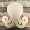 Octopus Cutout, Unfinished Craft, Paint by Line