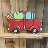 Back to School Old Style Truck Cutout, Wooden Paint-able, Back to School Paint by Line