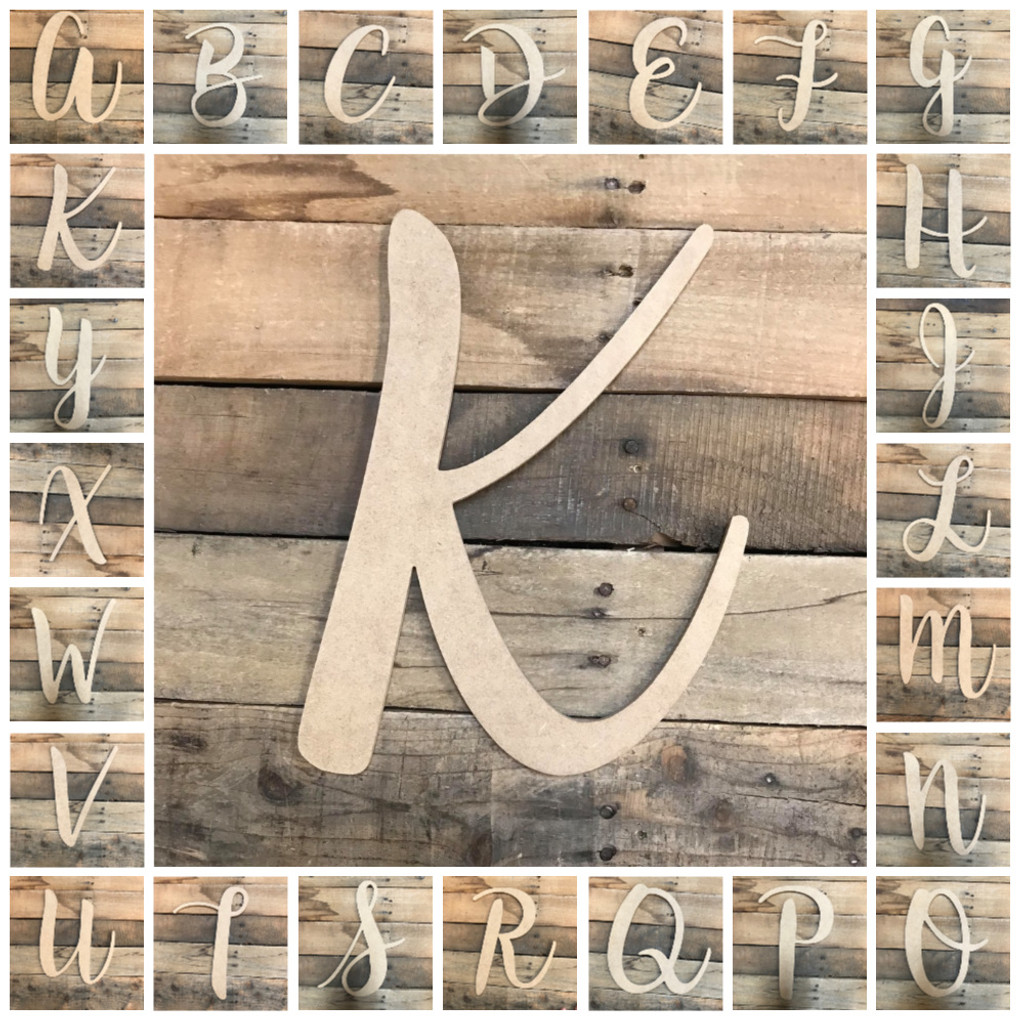 King Basil Wooden Letters Unfinished Mdf Paintable Diy Craft
