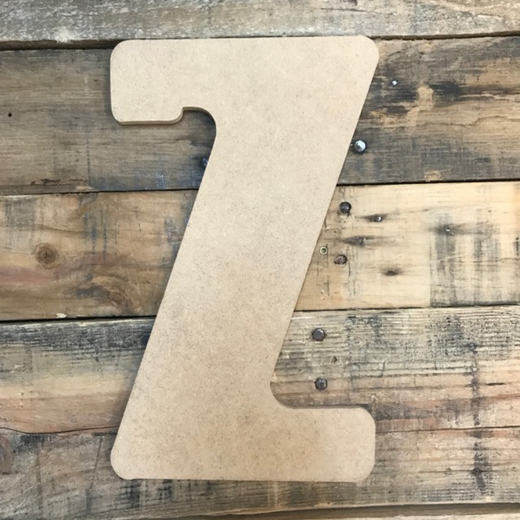 Block letter Z are cheap custom cut wood letters.