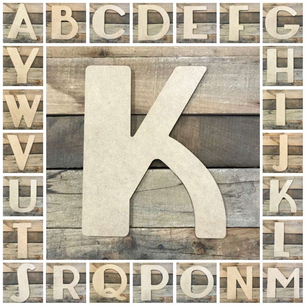Unfinished Wooden Letter C 6 Inches