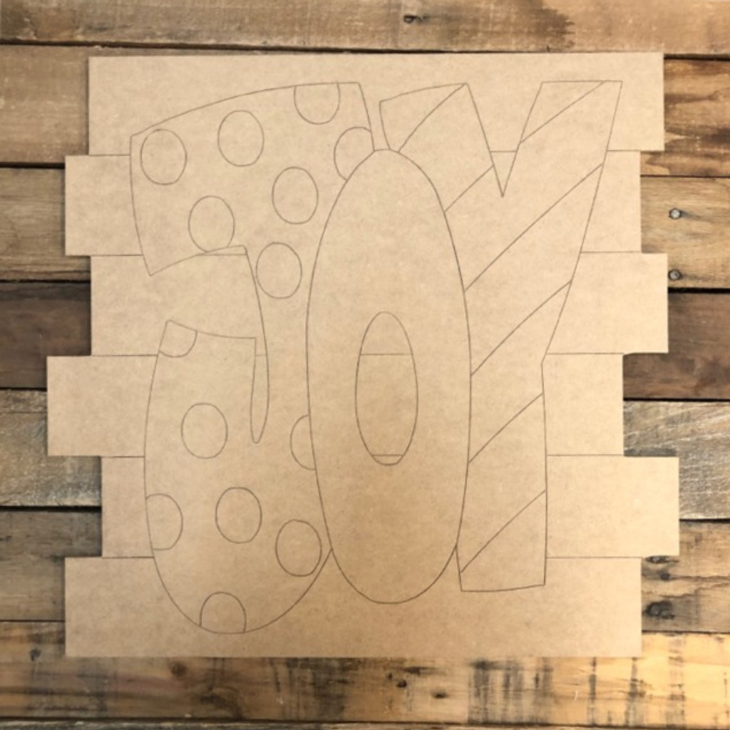 JOY Shiplap, Wood Cutout, Shape, Paint by Line