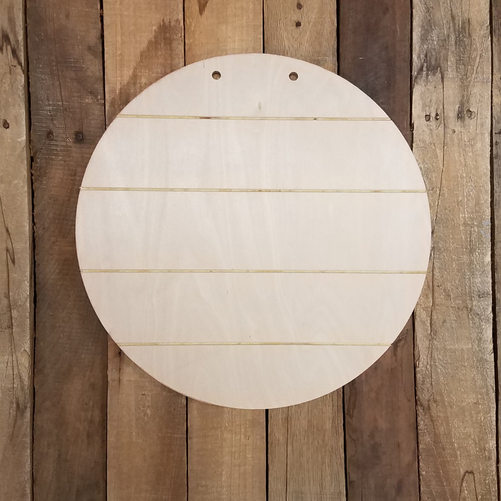 Circle Shiplap Pine Cutout, Circle, Unfinished Wood Shape