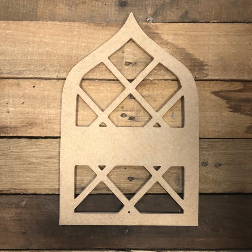 Cathedral Blank Frame Wooden - Unfinished  DIY Craft