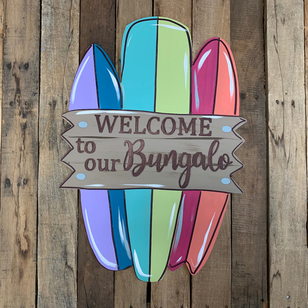 Welcome to our Bungalo Surfboards Wood Shape, Paint by Line