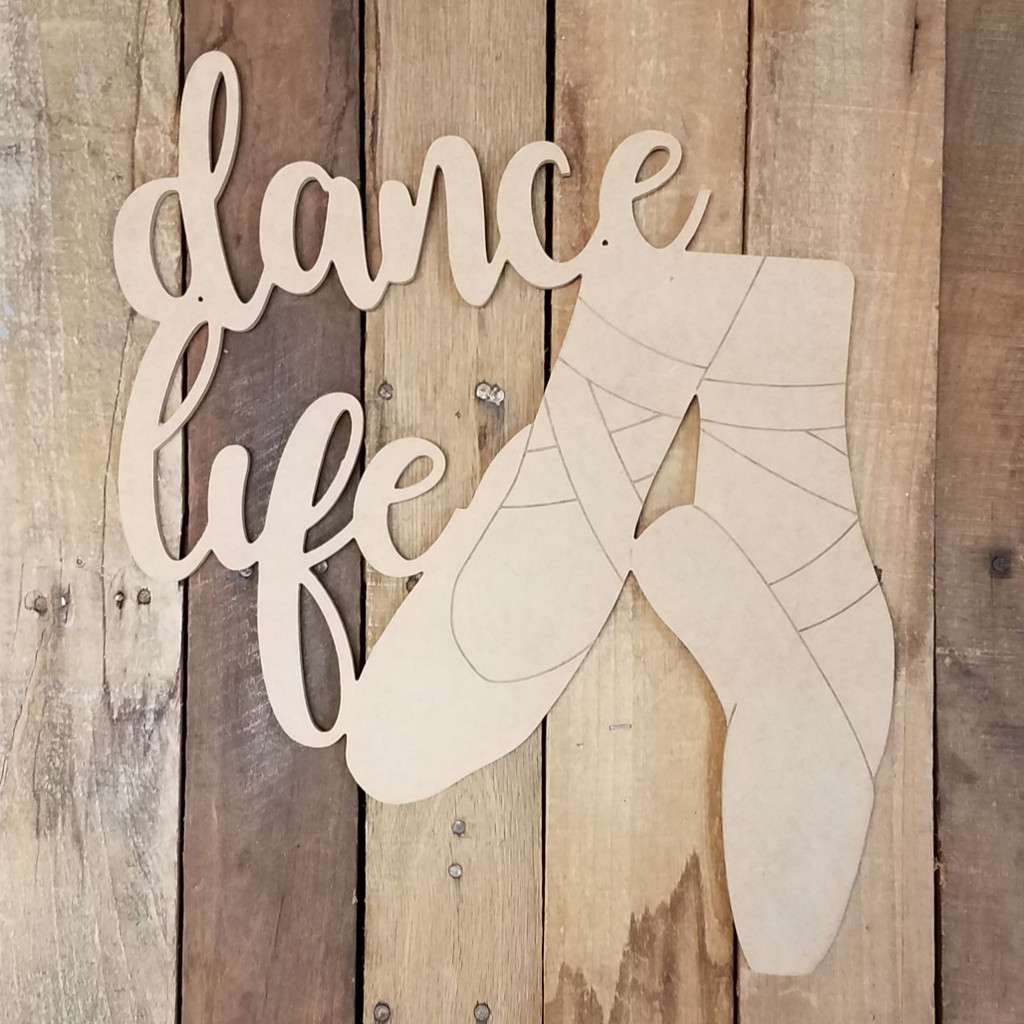 Dance Life Ballet Feet Craft Shape Paint by Line