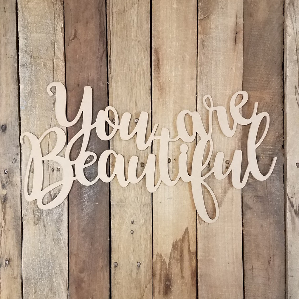 You Are Beautiful King Basil Connected Unfinished Word