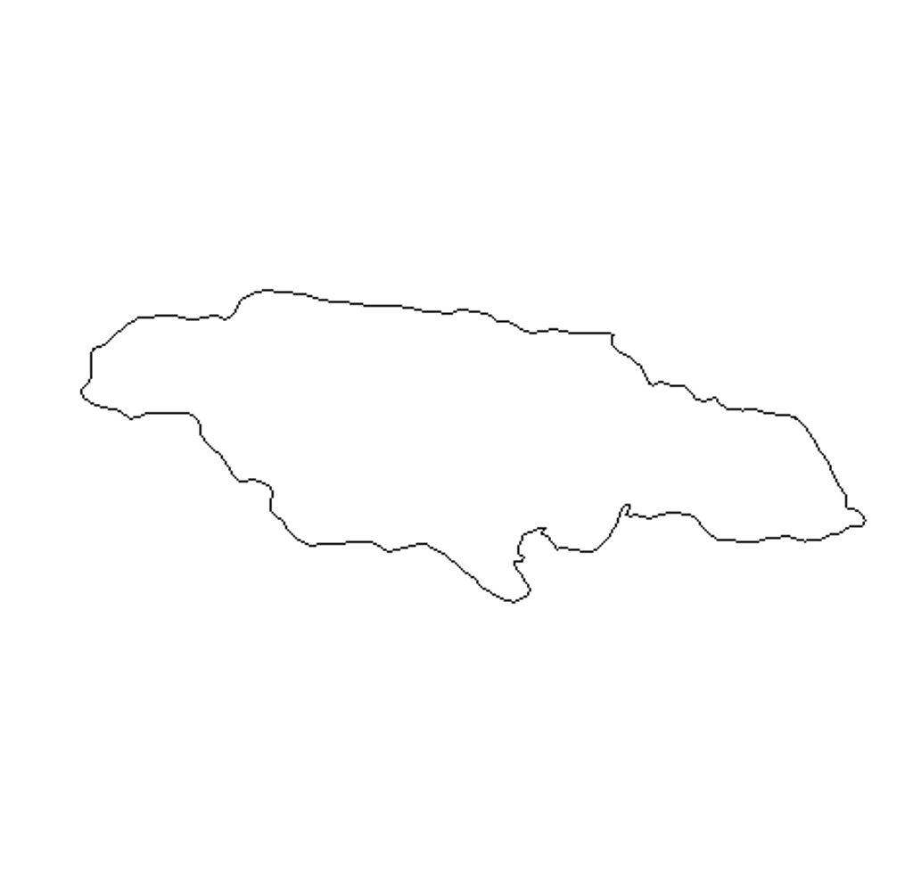 Jamaica Unfinished Cutout, Wooden Shape, Paintable Wooden MDF DIY Craft