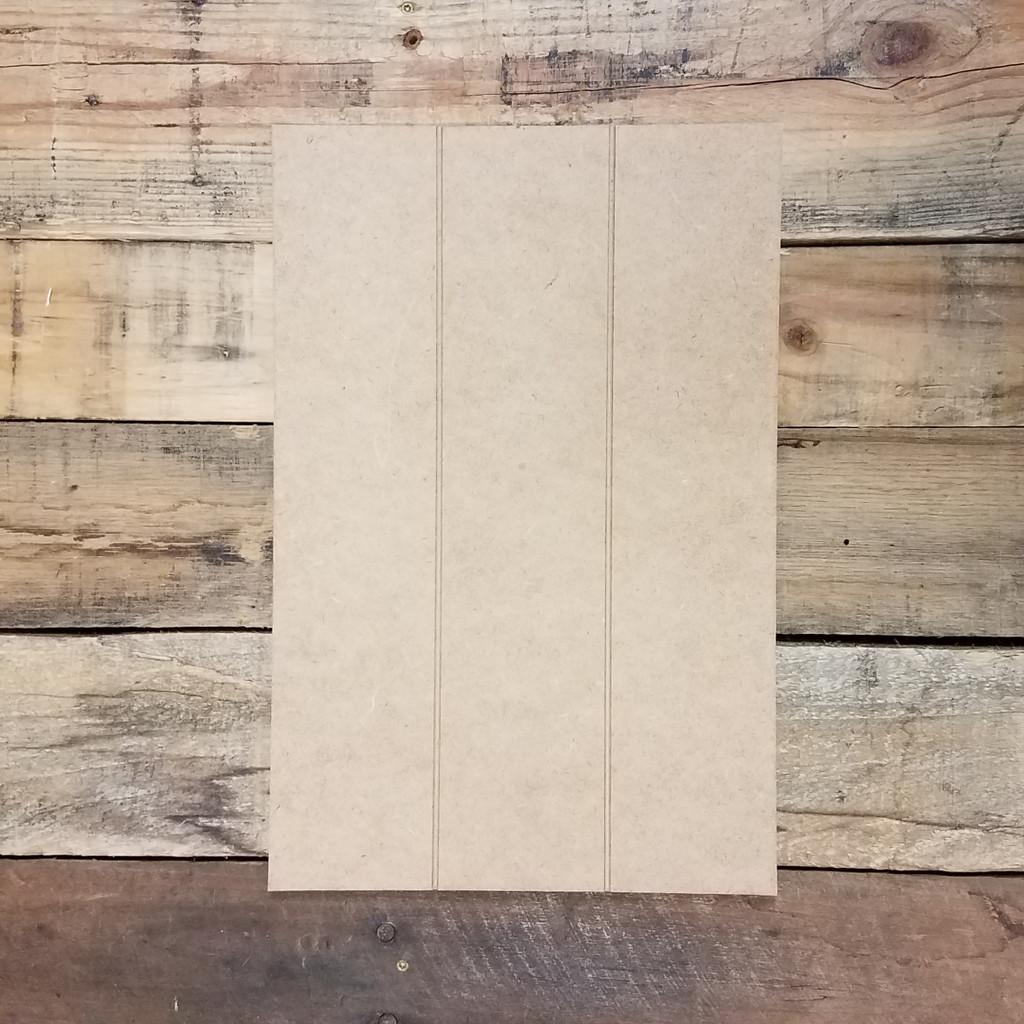 Rectangle Shiplap Pine Cutout, Circle, Unfinished Wood Shape