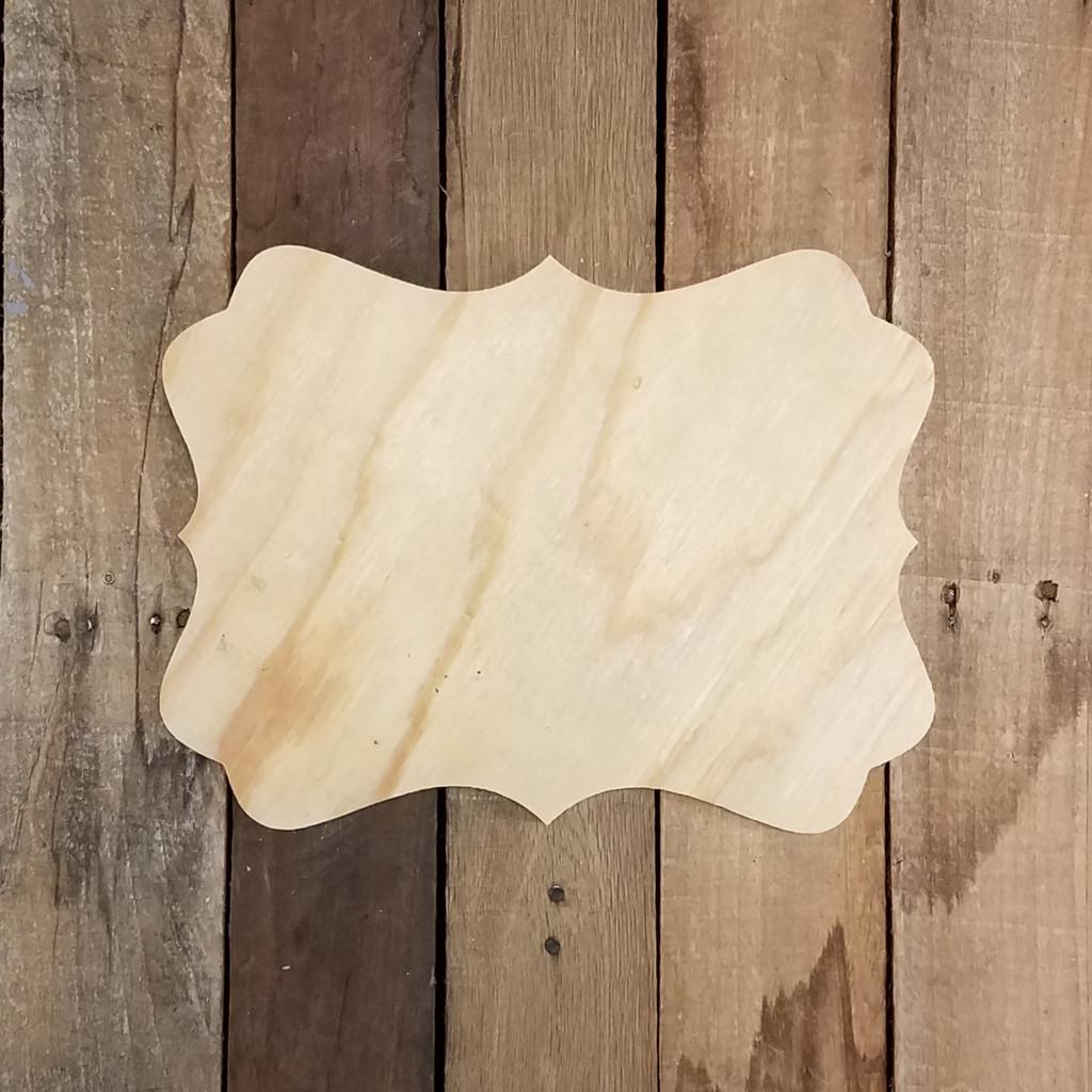 Pine Unfinished Wooden Katie Plaque Paintable Craft Shape