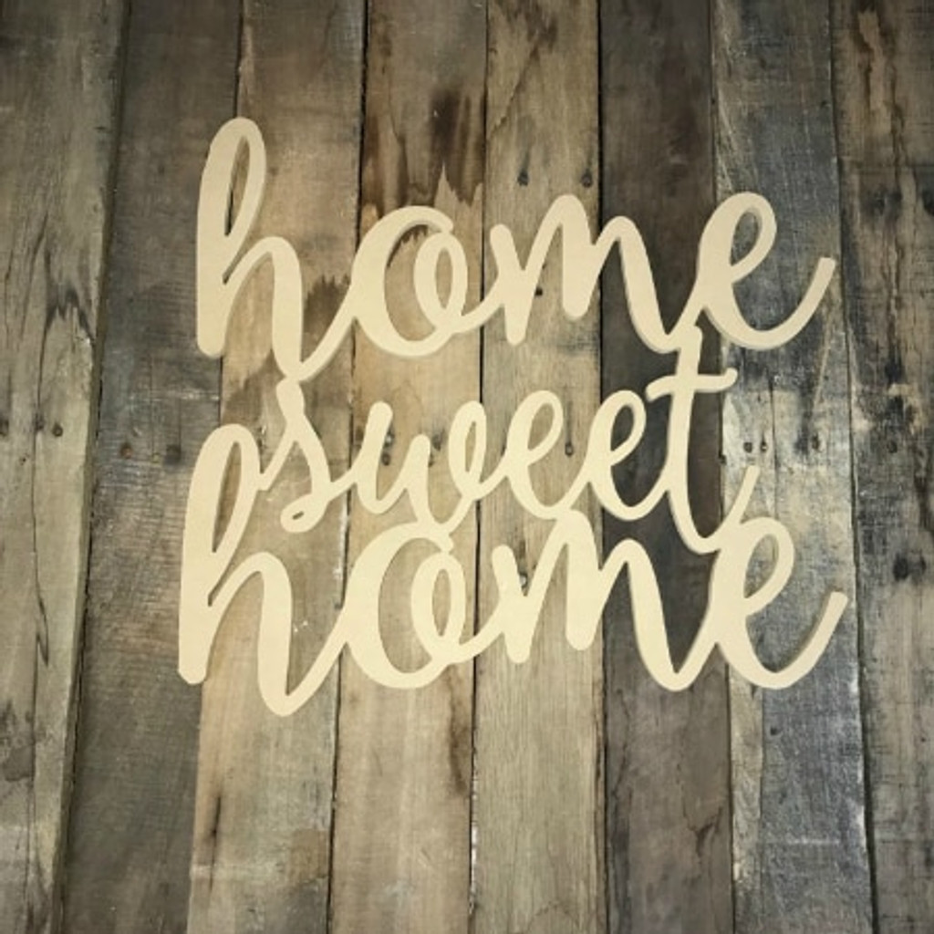Home Sweet Home Unfinished Connected Word