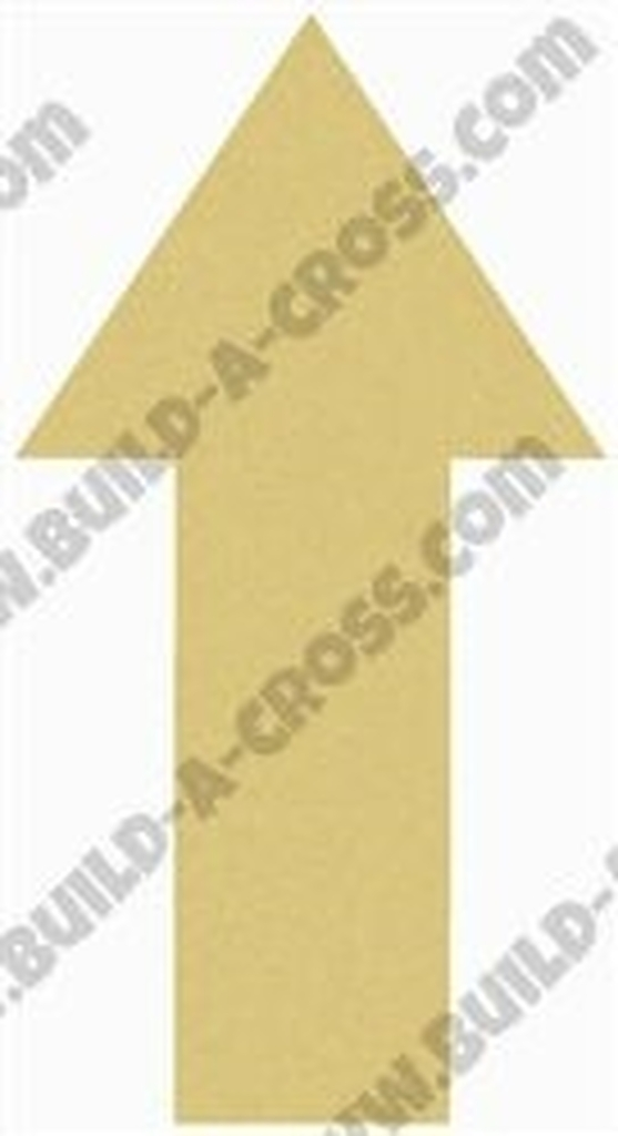 Basic Arrow Unfinished Cutout, Wooden Shape, Paintable Wooden MDF DIY