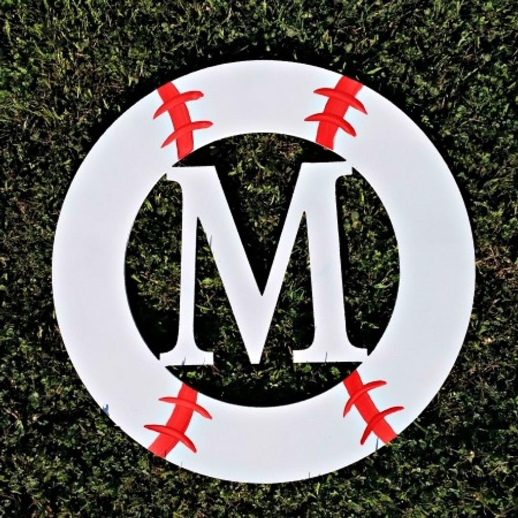 Baseball Framed Monogram  Letter,Frame Wooden - Unfinished  DIY Craft