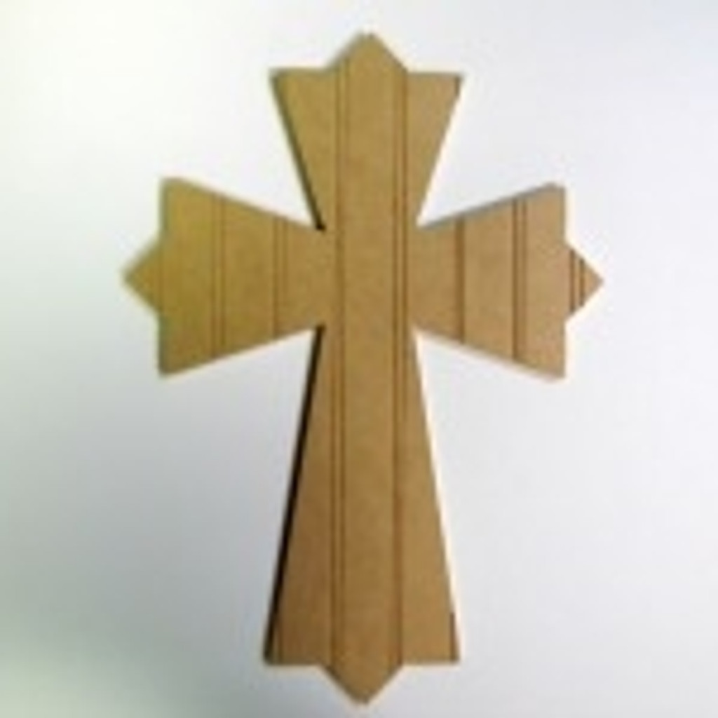 Unfinished Wooden Cross 47 Beadboard  Paintable Wall Hanging