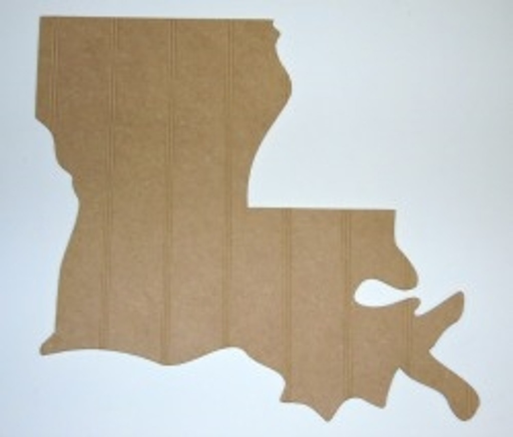Wood State Louisiana Unfinished Beadboard, Paintable  MDF DIY Craft