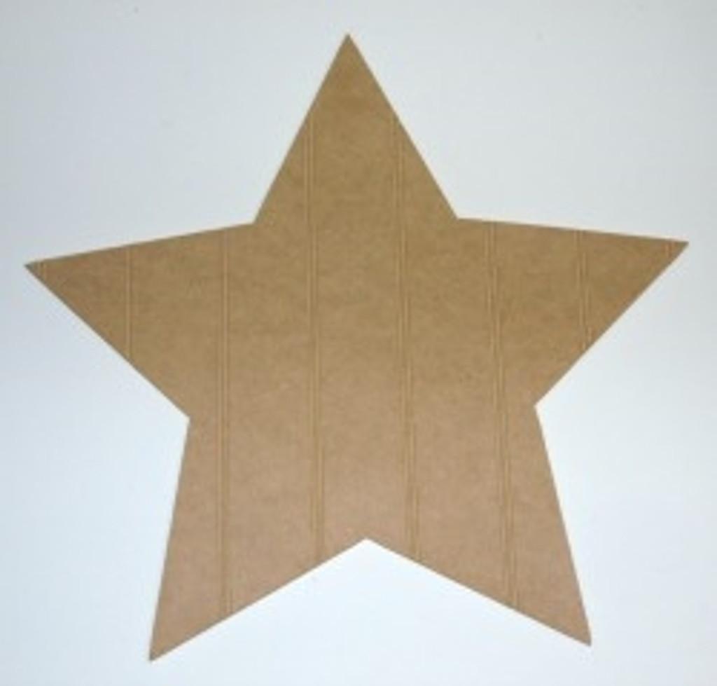 Wooden Wide Star Cutout Beadboard Shape Paintable MDF DIY Craft