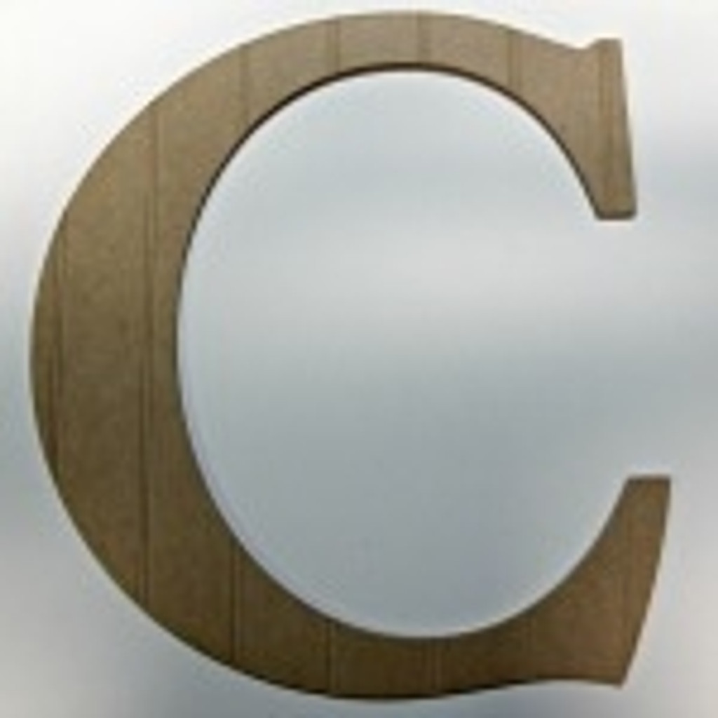 Wood hanging letters (C) look great with our wood dog bone cut out.