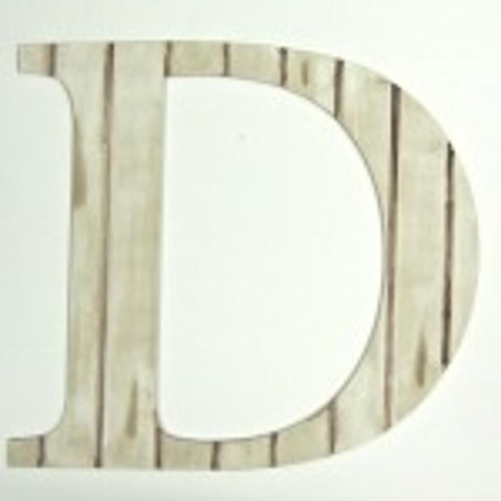 Wooden hanging wall letters (D) make great front door monograms.
