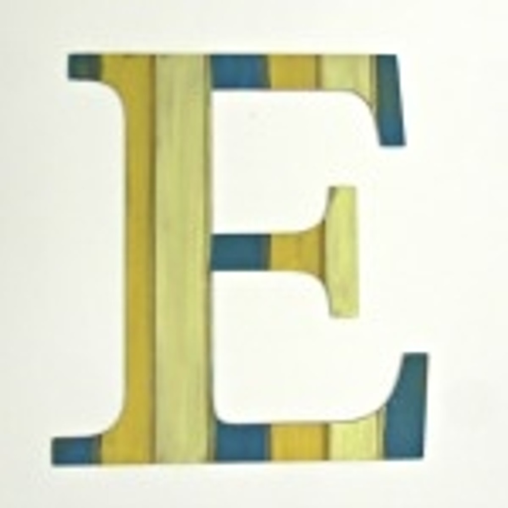Wood letters decor (E) look great with our custom wood shapes.