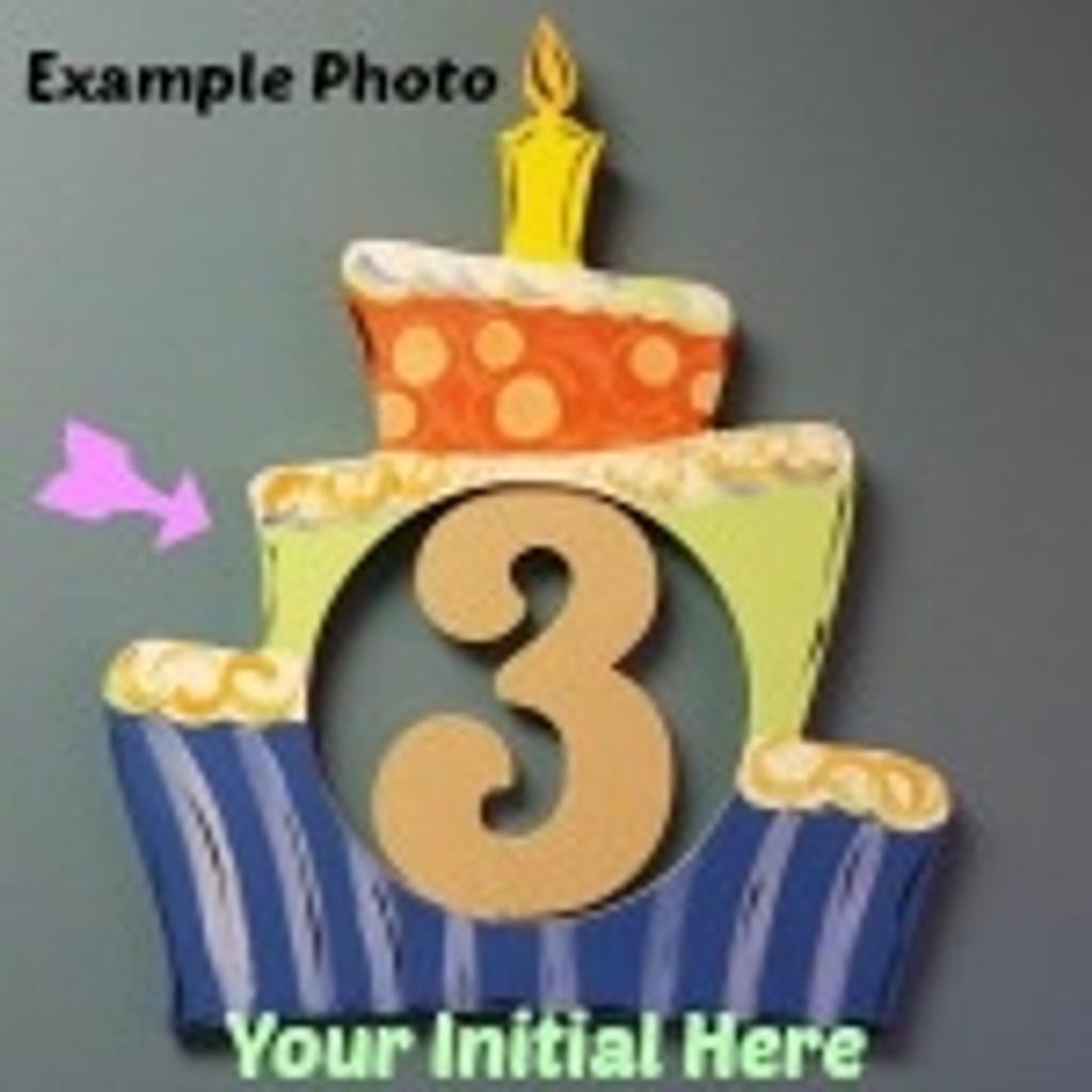 Fine Birthday Cake Frame Letter Insert Wooden Monogram Unfinished Diy Funny Birthday Cards Online Necthendildamsfinfo
